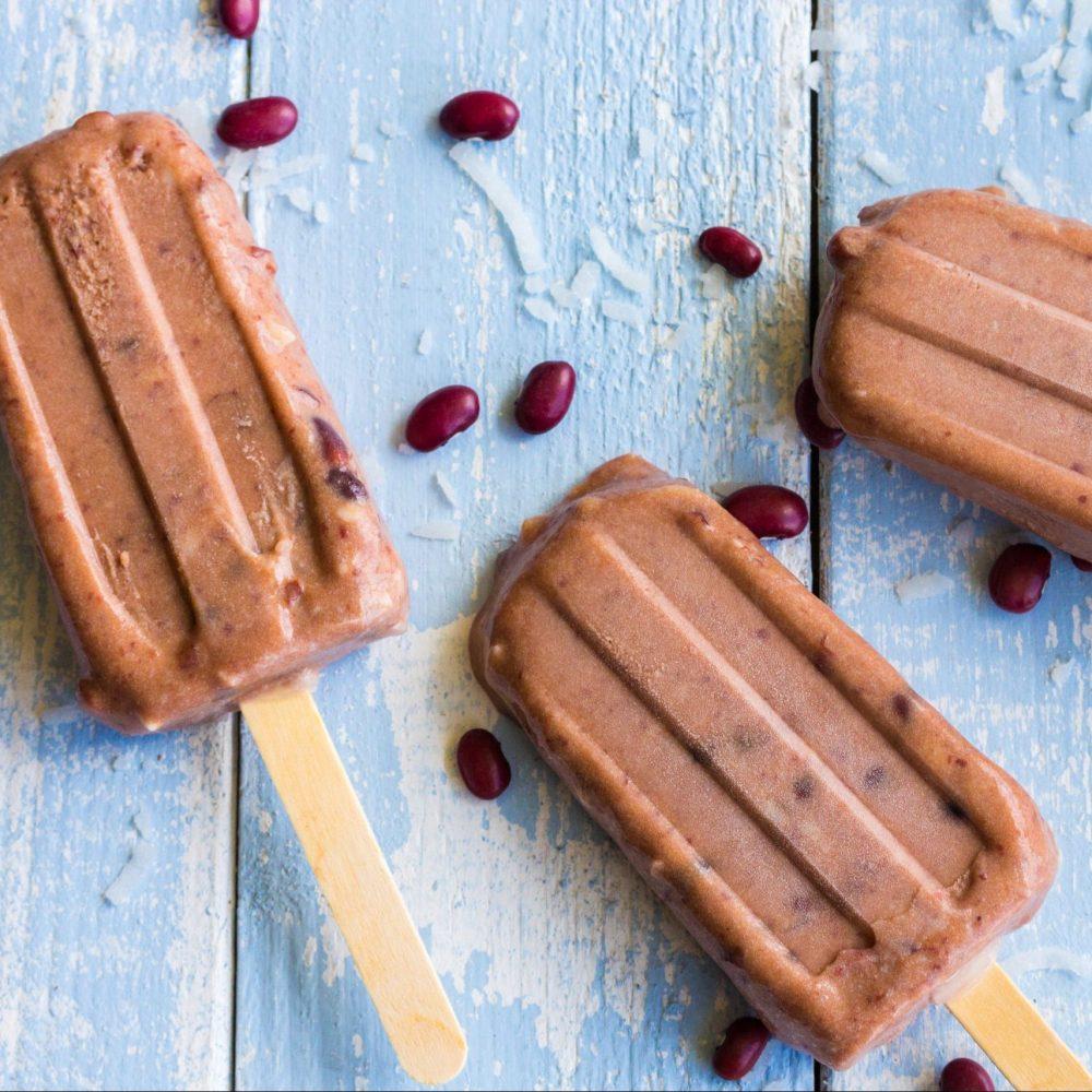 Vegan παγωτό με κόκκινα φασόλια