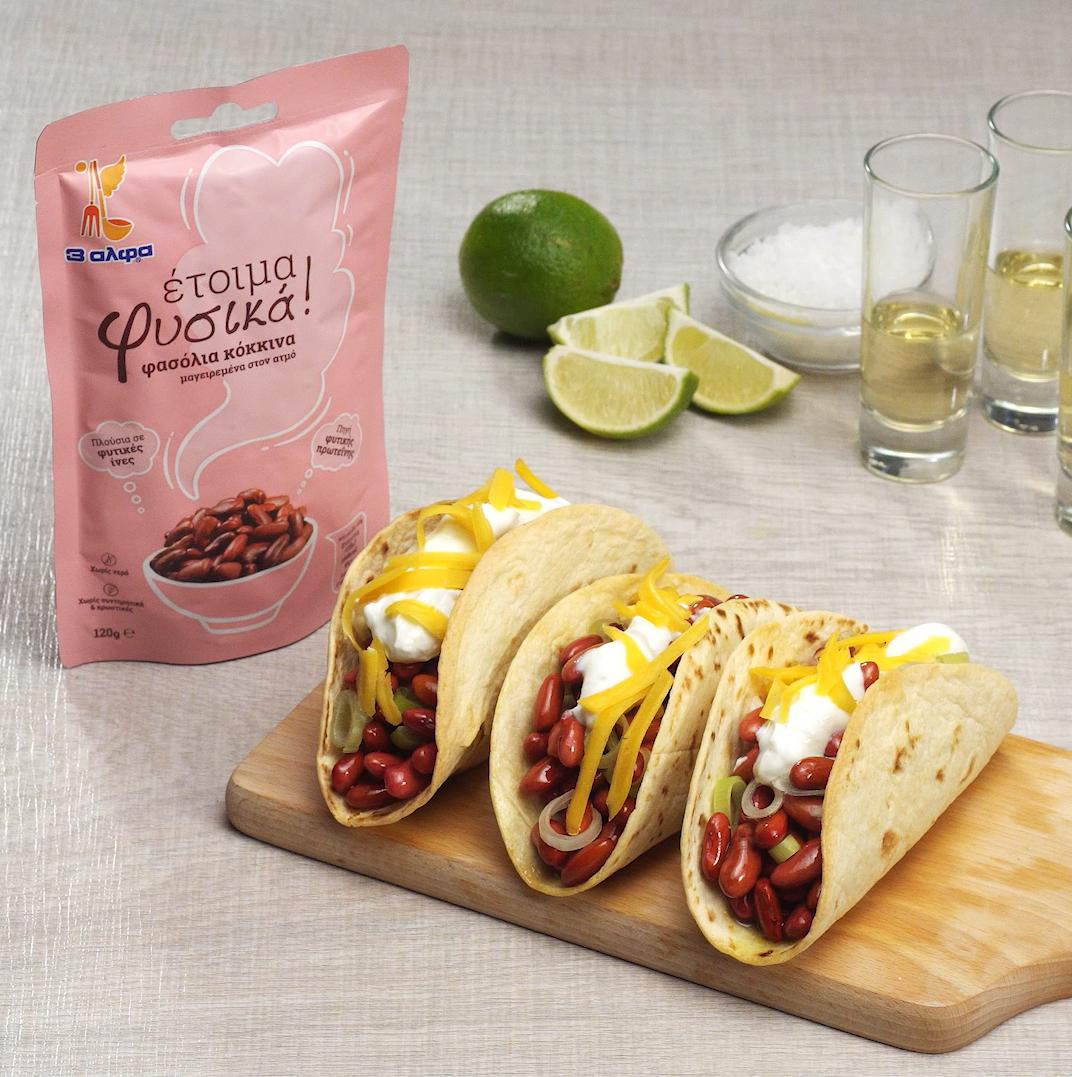 Tacos με κόκκινα φασόλια